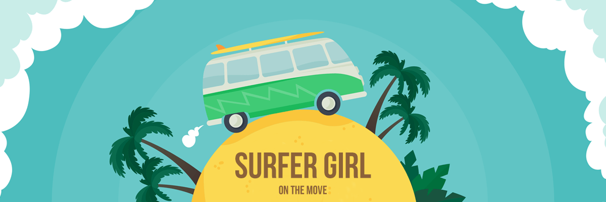 Surfer Girl on the Move