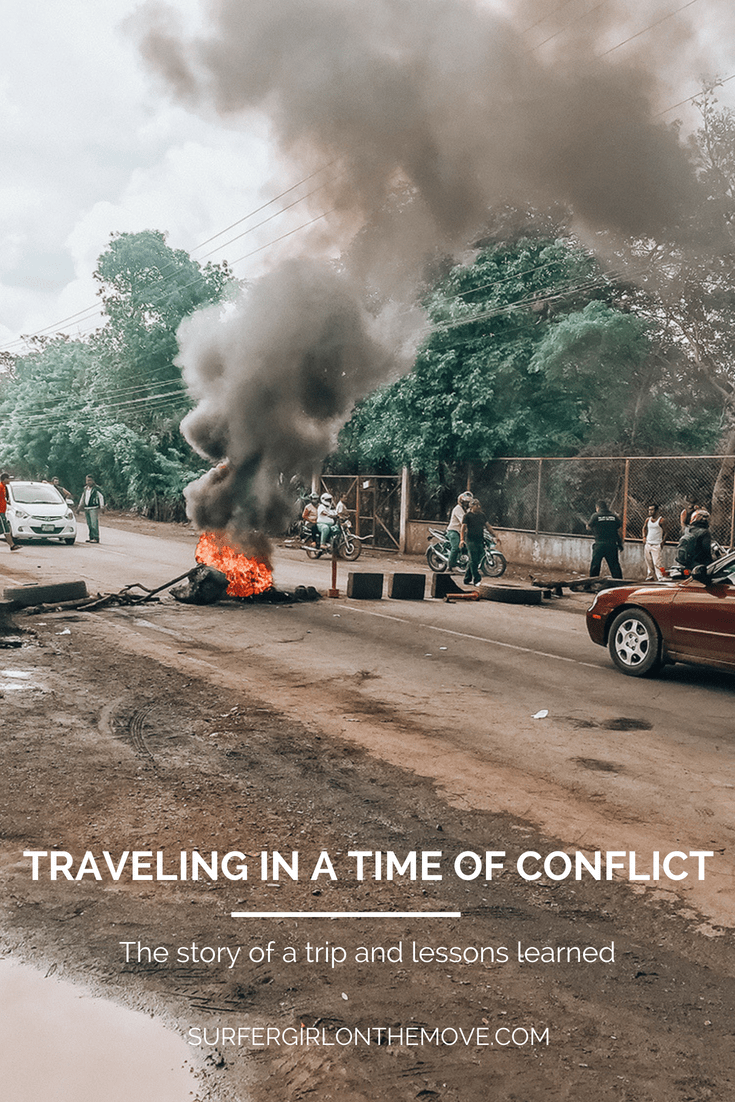 Traveling in a time of conflict