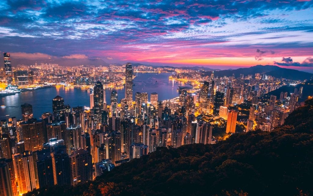 vista para hong kong skyline