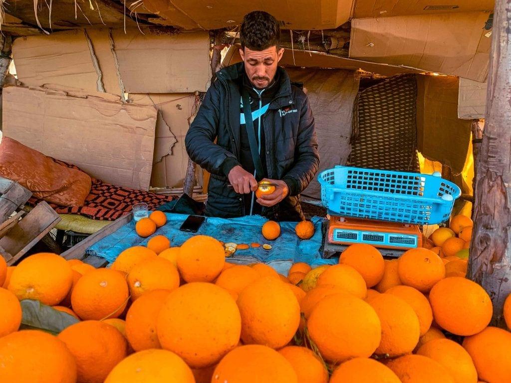 Vendedor de laranjas