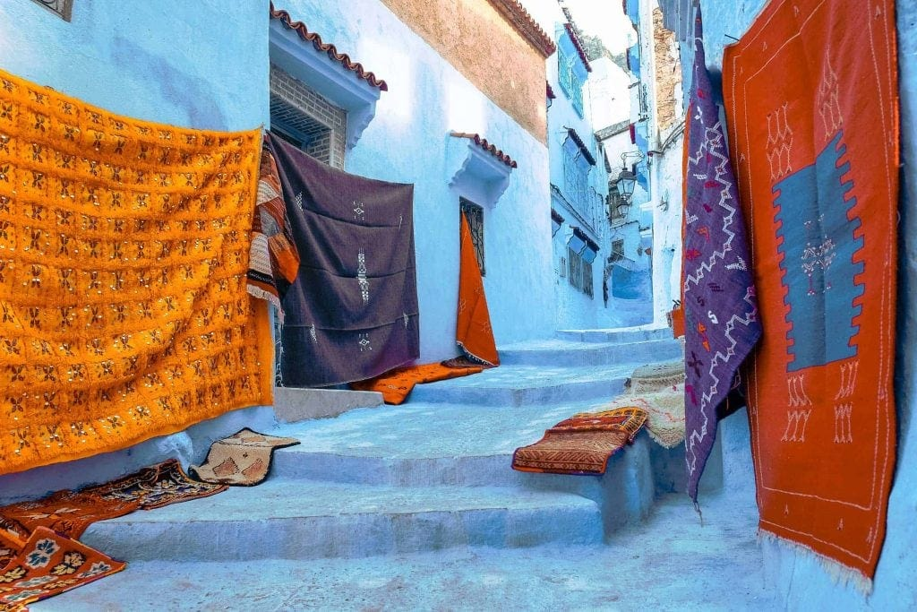 Carpets of Chefchaouen