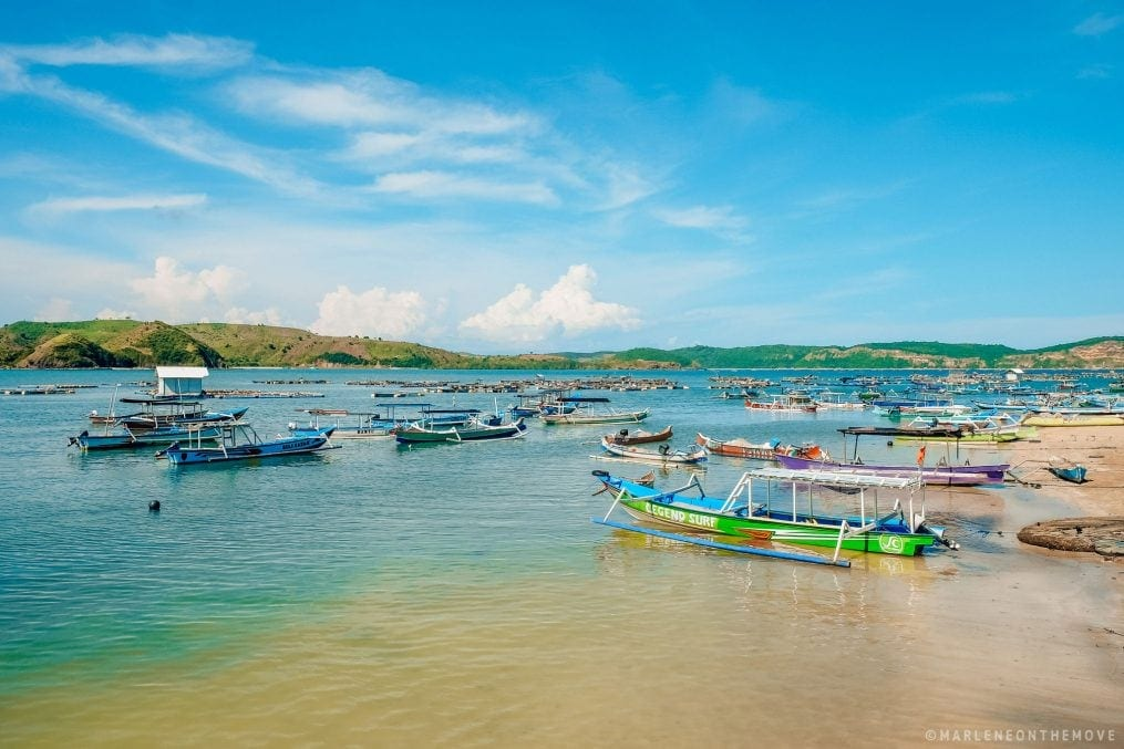 barcos de pesca em lombok. fishing boats in lombok