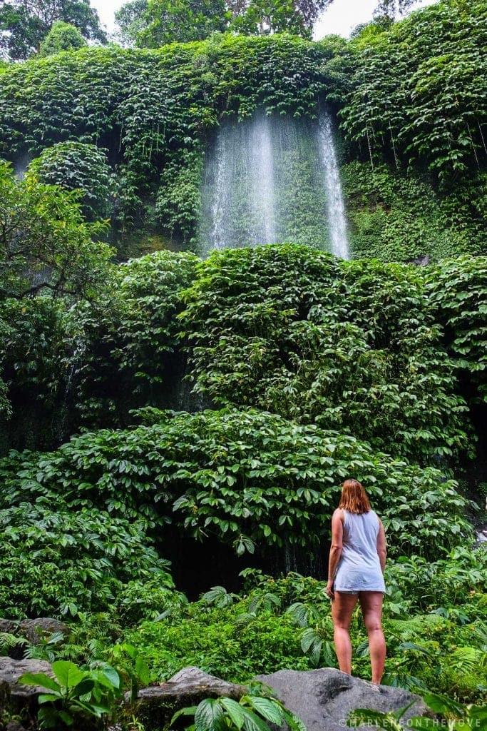 cascata em Lombok waterfall