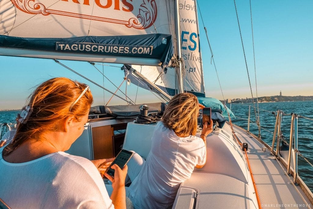 A bordo do veleiro TagusCruises On board the sailboat