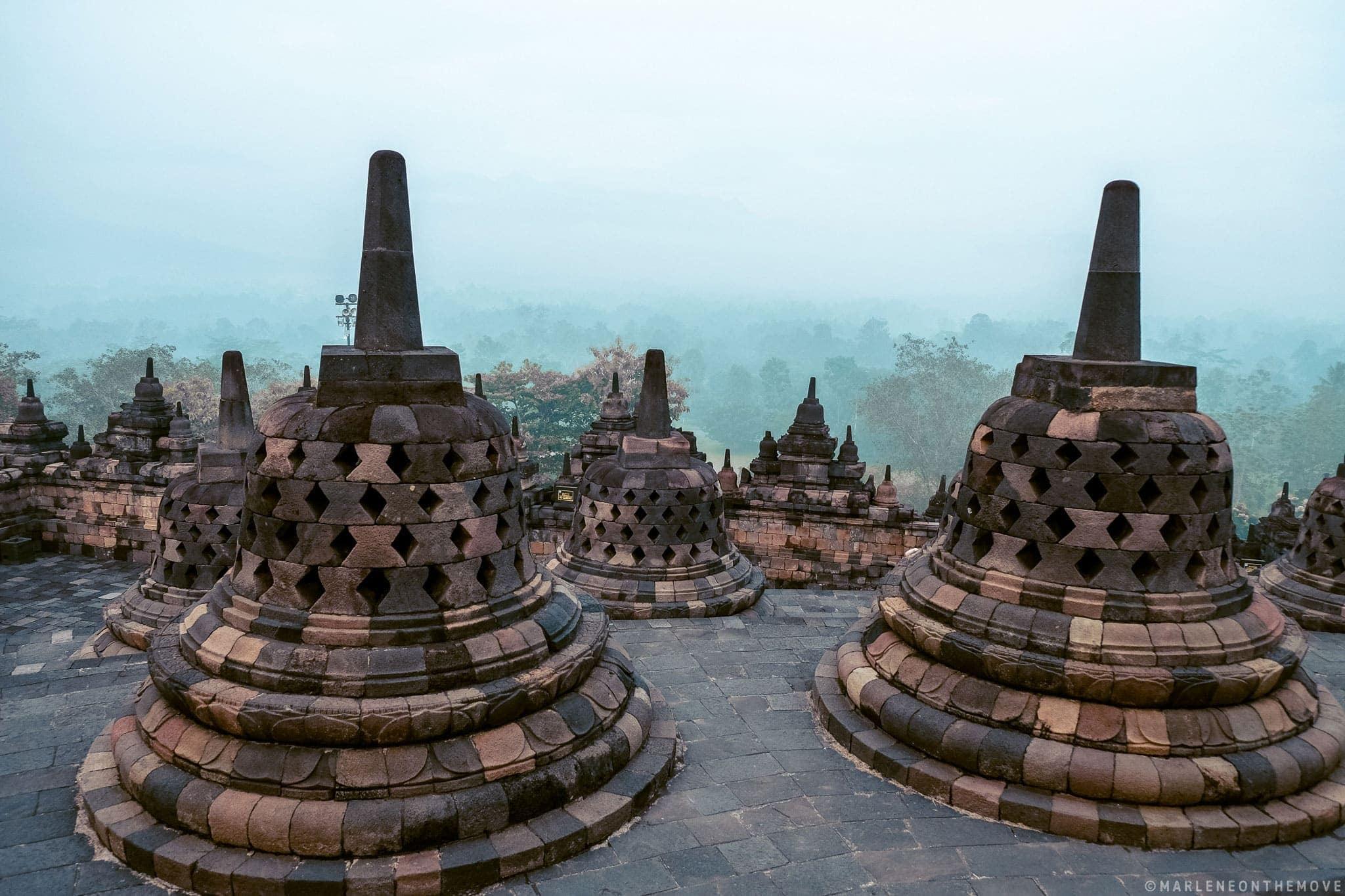 Amanhecer em Borobudur