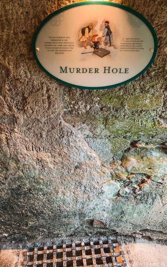Castelo de Blarney - Murder Hole- Blarney Castle