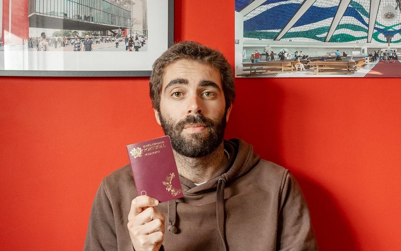 Passaporte Goncalo Henriques Num Postal