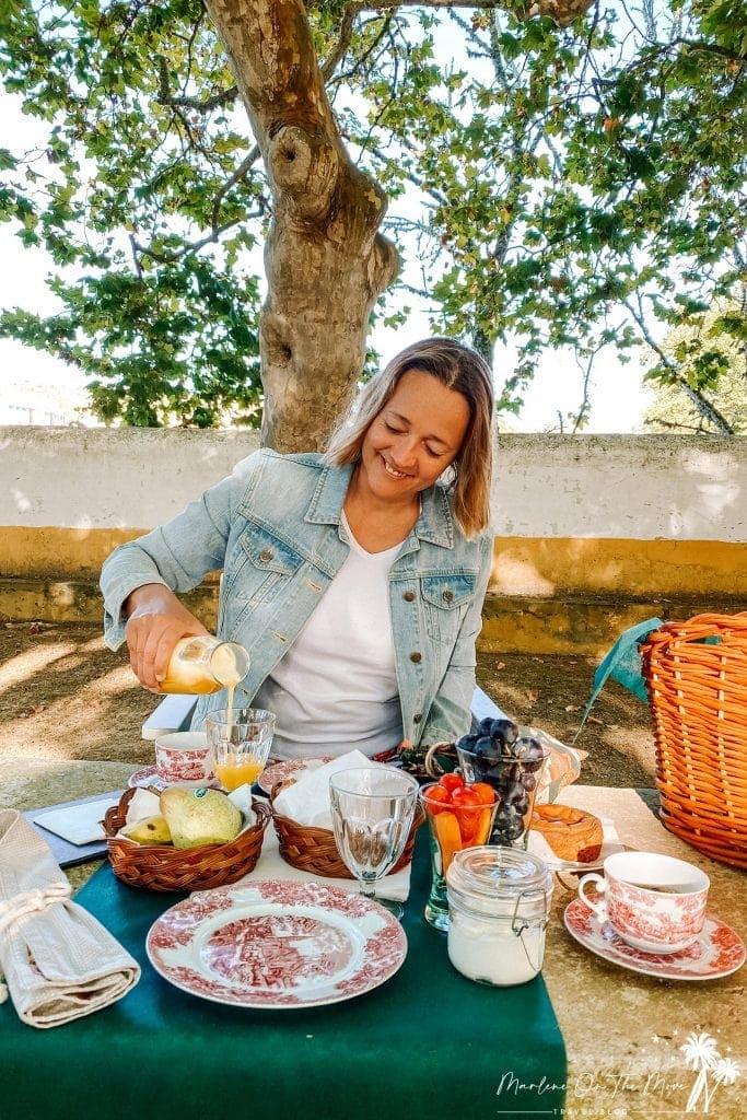 Pequeno-almoço/ Breakfast Quinta da Foz do Arelho Portugal