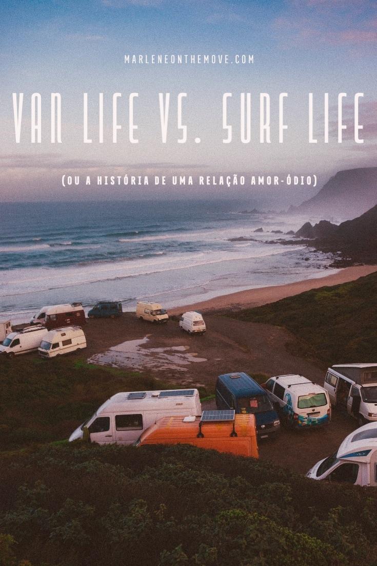 """Em tempos, o surf e as viagens de carrinha andavam de mãos dadas. Mas hoje os surfistas olham de lado para estes meios de transporte e a conhecida """"van life"""" que tem invadido as praias."""