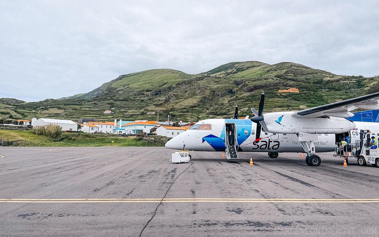 Avião Sata Ilha do Corvo