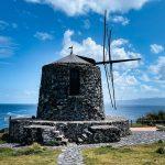 Antigo moinho na Ilha do Corvo