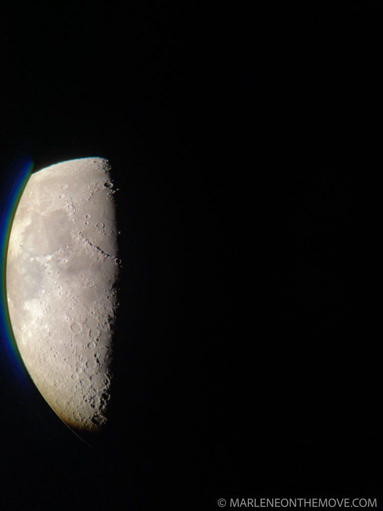Lua vista por um telescópio - Telescope moon sight