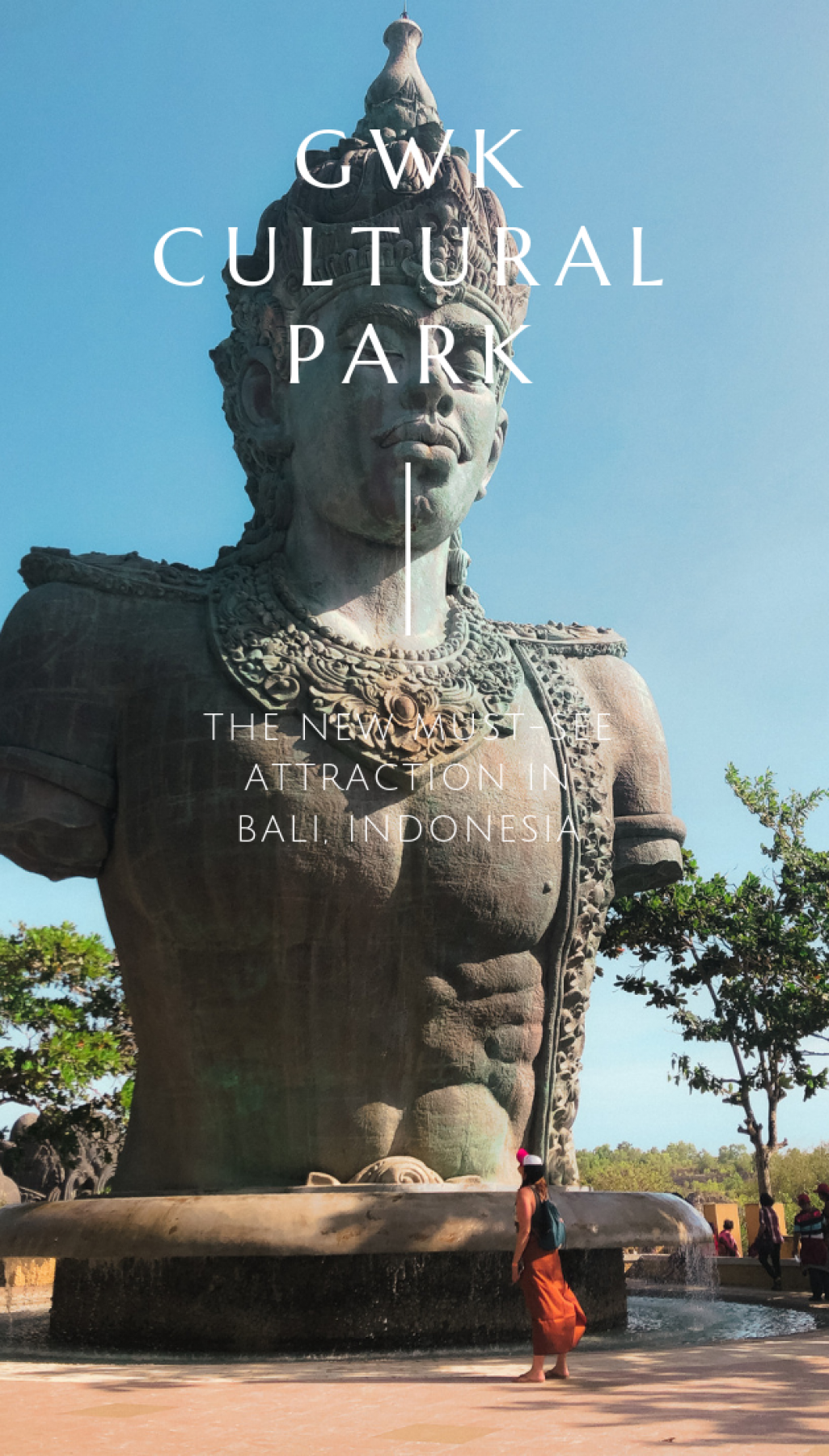 Want to see one of the most giant statues in the world? At GWK Cultural Park in Bali, Indonesia, you can view this monument and more. A must visit on the Island of the Gods.
